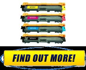 The GG Black Color Toner Cartridges 4 Pack Compatible with Brother TN221 TN225 compatible with Brother HL3140CW, HL3170CDW, MFC9130, MFC9330, MFC9340 Printers